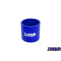 Szilikon összekötő, egyenes TurboWorks Kék 89mm 8cm